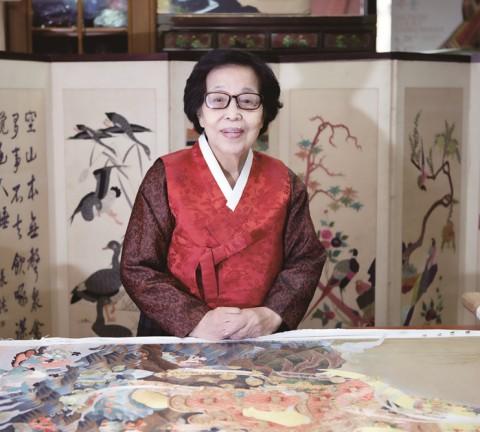 중요무형문화재 제80호 자수장(刺繡匠) 한상수