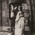 사진 1. 거울앞에 선 여인, 카를로 로제티(Carlo Rossetti),