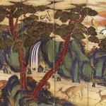 도 1 십장생도, 1880년, 10폭 병풍, 견본채색, 201.9×521.0㎝, 미국 오리건대학교박물관