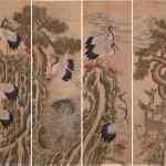도 5 장생도, 19세기말, 10폭 병풍, 견본채색, 122×36㎝, 가회박물관