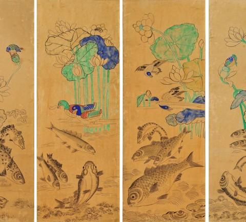 연화유어(蓮花遊魚)