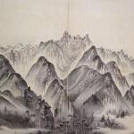 (도 11) 김하종, <헐성루망전면금강도>, 해산도첩, 1815년, 견본담채, 43.3×29.7㎝, 국립중앙박물관