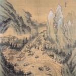 (도 3) 정선, <장안사> 풍악도첩 중, 1711년, 견본담채, 각 37.4×36.0㎝, 국립중앙박물관