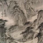 (도 4) 정선, <만폭동도>,18세기 전반, 견본수묵, 22×33.2㎝, 서울대학교박물관