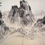 (도 6) 조정규, <만폭동도>,19세기 중엽, 지본수묵, 33.6×27㎝, 국립중앙박물관
