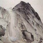 (도 7) 김하종, <구룡연>, 해산도첩, 1815년, 견본담채, 43.3×29.7㎝, 국립중앙박물관
