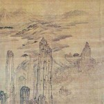 (도 8) 김홍도, <총석정>, 해악도병, 18세기 말, 견본수묵, 41×100.8㎝, 간송미술관