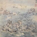 (도 9) 심사정, <해암백구풍범도>, 18세기 중엽, 지본담채, 31.1×28.5㎝, 개인 소장