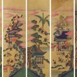 도 6. <백동자도> 10폭 병풍 中, 19세기 말, 지본채색, 각 54.5×111.0㎝, 호림박물관