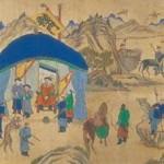 도 7. <호렵도>10폭 병풍 부분, 19세기 말, 지본채색, 각 폭 92.2×27㎝, 건국대학교박물관 소장