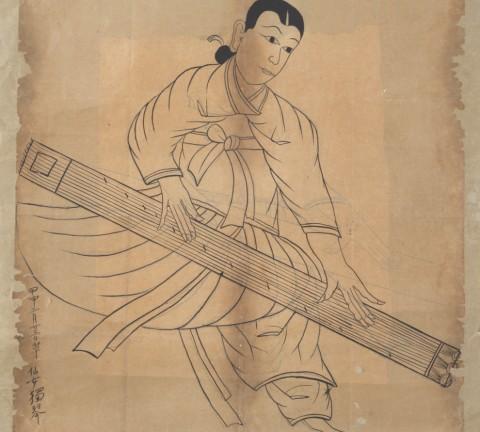 선녀독금(仙女獨琴)