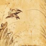 도 2. <화조도>, 19세기 말~20세기 초, 지본채색, 112.8×33.0㎝, 서울역사박물관 소장