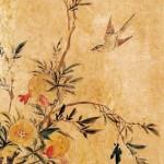 도 3. <화조도>, 19세기 말~20세기 초, 지본채색, 112.2×32.5㎝, 서울역사박물관 소장