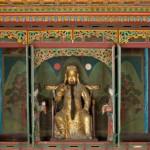 도 2. 관운장 신상과 <일월오봉도>, 20세기, 서울시 숭인동의 동묘