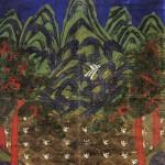 도 5. <오봉도>, 19세기 후반, 비단에 채색, 114.0×98.5㎝, 영국박물관