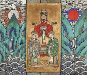 도 6. <세조상>과 <일월오봉도>, 19세기 후반, 143.0×160.6㎝, 국립민속박물관