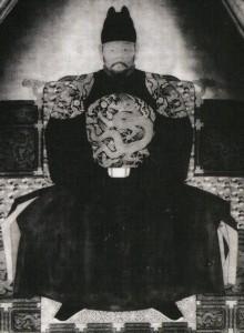 도 2. 준원전濬源殿의 <태조어진>, 1911년 촬영