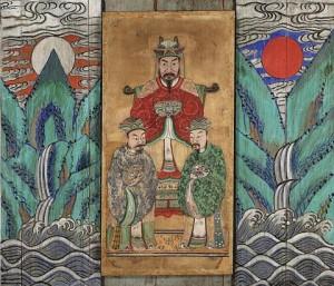 도 4. 복개당福介堂 구장舊藏 <세조 존상>, 19세기 말~20세기 초, 현 국립민속박물관