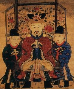 도 6. <상감도 上監圖>, 19세기, 종이에 채색, 85×107㎝, 프랑스 국립기메동양박물관