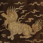 도 6. 김여온 묘 출토 사자 흉배, 1665년, 개인 소장