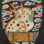 도 7. <유진하 초상> 사자 흉배. 《등준시무과도상첩》 수록, 1774년, 국립중앙박물관 소장