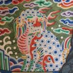 도 8. <이창운 초상> 사자 흉배, 1782년, 비단에 채색, 개인 소장