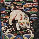 도 10. <신응주 초상> 사자 흉배, 18세기, 비단에 채색, 성균관대학교박물관 소장