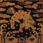 도 11. 사자 흉배, 조선 후기, 26.8×29.0㎝, 고려대학교박물관 소장