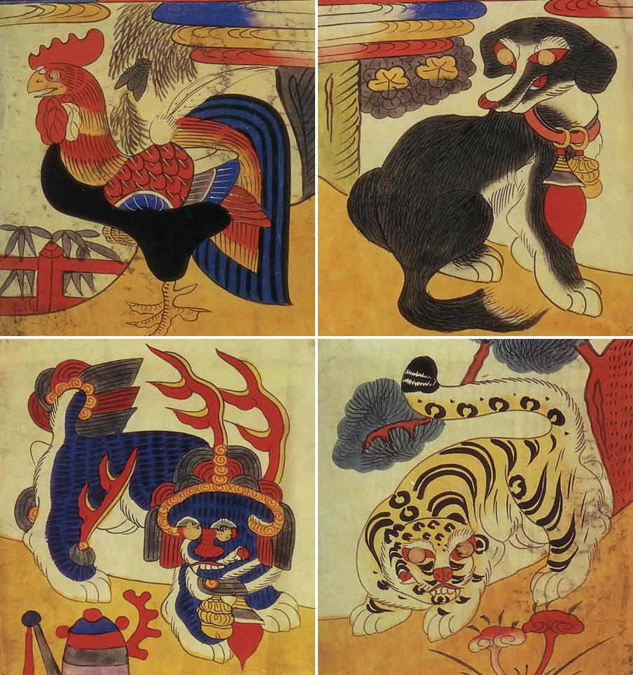 도 1. 계견사호, 샤를바라 1888년 수집, 프랑스 국립기메동양박물관