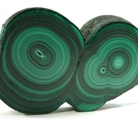 녹색안료의 원광물 공작석 Malachite