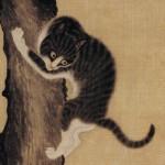 도 3. 변상벽, 묘작도 猫雀圖 부분, 18세기, 비단에 담채, 93.7×43.0㎝, 국립중앙박물관