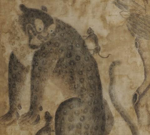▼ 까치호랑이 76 x 55cm 조선민화박물관