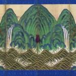 도4. 오봉도 창호, 비단에 먹과 채색, 전체 144×230cm,창덕궁