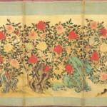 도11. 모란병 10첩, 비단에 먹과 채색, 각 첩 145×58cm, 국립중앙박물관