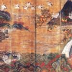 도21. 해학반도병 海鶴蟠桃屛, 8첩 병풍, 각 첩 210×56cm, 개인소장