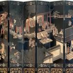 도24. 곽자의축수도 郭子儀祝壽圖 'Corromandel' type 8첩 칠(漆)병풍Asian Art Museum, San Francisco