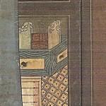 도31. 장한종(張漢宗 1768–1815), 책가도, 8첩 병풍 부분, 종이에 먹과 채색, 전체 195×361cm. 경기도 박물관