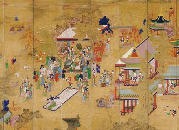 도 1. 곽분양행락도, 19세기, 국립민속박물관 소장