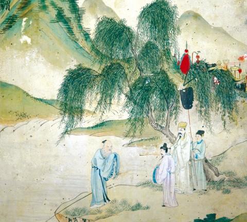 도 1 양기성, , 《만고기관첩》, 18세기 전반, 종이에 채색, 33.5×29.4cm, 일본 야마토분카칸