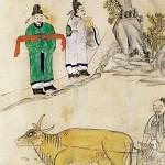 도 2. , 고사인물도 8폭병풍, 비단에 채색, 77.5×37.5cm, 가회민화박물관