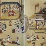 도 2. <곽분양행락도> 8첩 병풍, 19세기, 지본채색, 70.0×42.0㎝, 국립민속박물관
