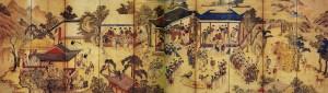 도 3. <곽분양행락도> 10첩 병풍, 19세기, 견본채색, 99.0×349.0㎝, 한양대학교박물관