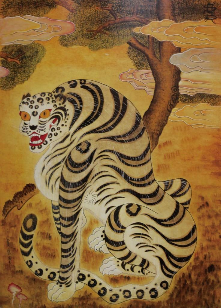 호랑이 35×65cm 종이에 한국화물감