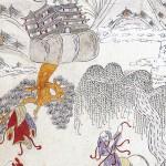 도 3. <영수세이도>, 고사인물도 8폭 병풍, 종이에 채색, 74.5×34.5cm, 가회민화박물관