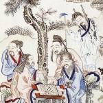도 3 <상옹위기도>, 고사인물도 병풍 8폭, 지본채색, 74.5×34.5cm, 가회민화박물관