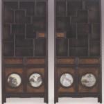 도 2. 이형록, <冊架文房圖八幅屛>, 조선 19세기 중반, 지본채색, 139.5×421.2㎝, 삼성 미술관 Leeum