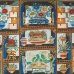 도 6. 작자미상, <多寶格景>, 淸 19세기, 채색목판, 103×222.8㎝, 中國藝術硏究院 王樹村