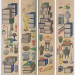 도 20. 이택균, <책가도병풍>, 조선 19세기 (1864-1871), 지본채색, 통도사 성보박물관