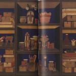 도 28. 작자미상, <冊架文房圖十幅屛>, 조선 19세기, 견본채색, 각 198.8×39.3㎝, 국립중앙박물관