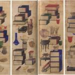 도 19. 이응록, <책가도>, 조선 19세기(1864-1871), 지본채색, 경산시립미술관